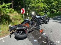 Am 21. Mai 2020 ereignete sich auf der Landesstraße 3084 ein Verkehrsunfall mit drei schwerverletzen Personen - der Rettungshubschrauber Christoph 7 aus Kassel war im Einsatz.