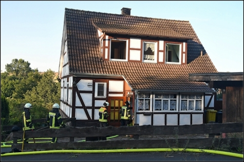 In diesem Haus ereignete sich am Samstag ein Küchenbrand.