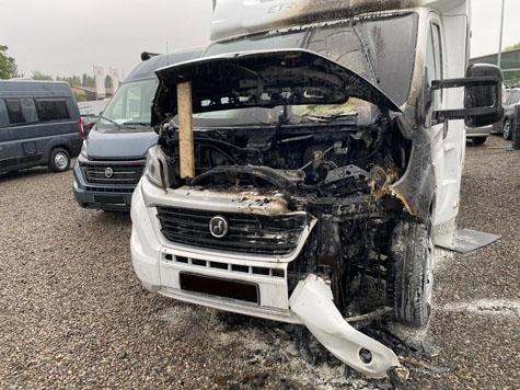 In Korbach brannte am Mittwochmorgen ein Wohnmobil.