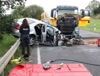 Bei einem Unfall auf der B 254 in Homberg ist am Dienstagmittag ein 87 Jahre alter Mann aus Bad Wildungen ums Leben gekommen.