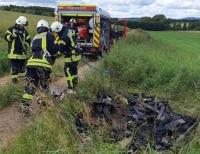 Am 11. Juli kam es bei Höringhausen zu einem Feuerwehreinsatz - Müll war entsorgt und angesteckt worden.