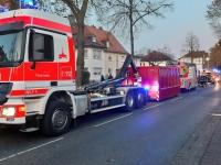 In Kassel löschte die Feuerwehr am Donnerstag einen Kellerbrand.
