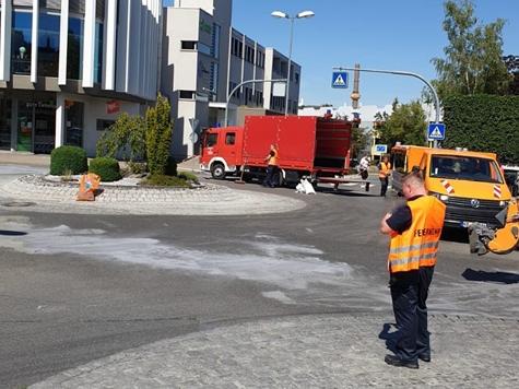 Am 5. August rückte die Freiwillige Feuerwehr in die Korbacher Innenstadt aus - die Reinigungsarbeiten dauern an.