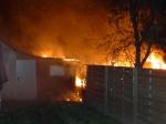 In Kassel brannten am Dienstag drei Gartenlauben.