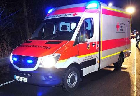 Mit einem RTW wurde der Hatzfelder am 2. August ins Frankenberger Krankenhaus eingeliefert.