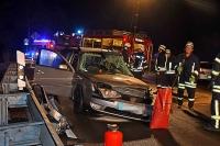 Der Finnentroper wurde von dem alkoholisierten Audifahrer getroffen und in seinem Auto eingeklemmt und schwer verletzt.