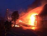 In Alme ereignete sich am Samstagabend ein Brand.