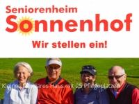 Der Sonnenhof in Vöhl  stellt examinierte Pflegekräfte ein