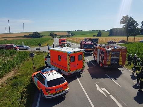 Am 24. Juli ereignete sich am Rösenbecker Kreuz ein schwerer Unfall.
