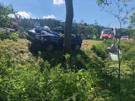 Am Montagmittag ereignete sich ein Unfall auf der Bundesstraße 252.