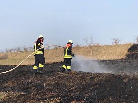 In Reddighausen kam es am Samstag zu einem Feldbrand.