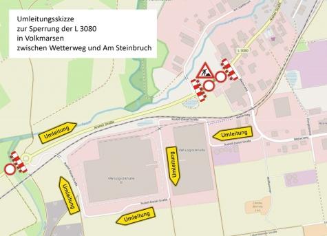 Auf der Landesstraße 3080 beginnt ein neuer Bauabschnitt.