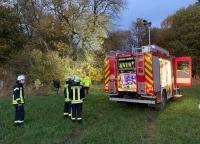 Die Feuerwehr wurde am Samstag zum Gesecker Stein alarmiert.