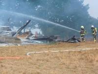 Bei Essentho brannte am Donnerstag eine Scheune.