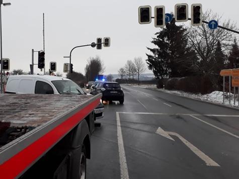 An der Viessmannkreuzung kam es erneut zu einem Unfall.