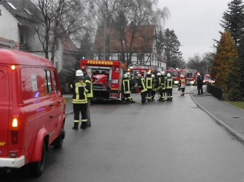 In Giershagen kam es am Samstag zu einem Kellerbrand.