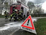 Am 22. Februar kam es zu einem Alleinunfall bei Külte - die Feuerwehr musste eine etwa 800 Meter lange Ölspur beseitigen.