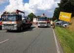 Auf der Bundesstraße 252 ereignete sich am 16. August ein schwerer Unfall.