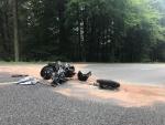 Bei Bottendorf verunglückte am Sonntag ein 61-jähriger Motorradfahrer.