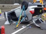 Auf der A7 ereignete sich am Dienstag ein schwerer Unfall.