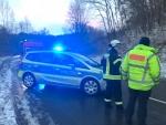 Ein Alleinunfall ohne verletzte Personne ereignet sich am 19. Januar auf der B 450 bei Landau