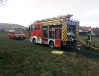 Ein Heckenbrand am 4. März in Roda rief die Wehren auf den Plan
