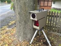 Im Lichtenfelser Ortsteil Sachsenberg wird eine Radarkontrolle durchgeführt