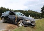 Dieser  BMW überschlug sich am 2. Oktober 2020 mehrfach - der Fahrer wurde dabei aus dem Fahrzeug geschleudert und verstarb an der Unfallstelle.