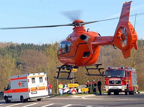 Am 14. März kam es bei Breuna zu einem Verkehrsunfall - eine Frau aus Volkmarsen musste mit dem Rettungshubschrauber in das Kasseler Klinikum geflogen werden.