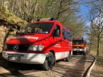 In der Gemarkung Holzhausen (Hatzfeld) waren am 10. April Feuerwehren und Polizeikräfte im Einsatz.