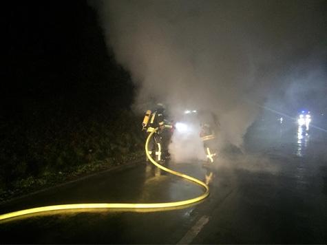Bei Essentho ereignete sich am 19. Oktober ein Fahrzeugbrand.