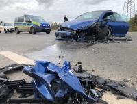 Völlig zerstört wurden am 3. November zwei Autos auf der B251 bei Korbach.