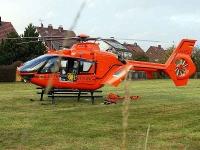 Ein Notarzt musste zur Unfallstelle geflogen werden.