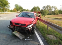 Auf der Bundesstraße 252 verletzten sich vier Personen bei einem Unfall.