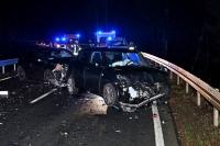 Drei Menschen wurden bei dem Zusammenstoß verletzt.
