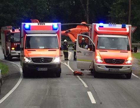 Am 9. Juni kam es auf der Bundesstraße 251 zu einem Verkehrsunfall - eine Person musste mit dem Rettungshubschrauber in eine Unfallklinik geflogen werden.
