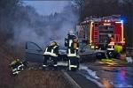 Der Motorblock des BMW brannte ab.