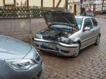 Ein VW Polo ist am Tylenturm in Korbach frontal mit einem Opel A.