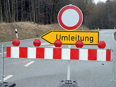 Vollsperrung zwischen Bergfreiheit und Oberurff