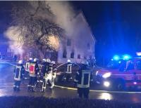 1. Januar 2019: Ein Strohlager fing um Mitternacht Feuer - etwa 108 Einsatzkräfte rückten an
