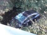 B 252: Ein kurioser Unfall in der Hessensteinkurve rief die Polizei auf den Plan.