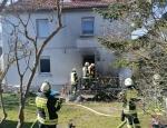 In Bad Wildungen brannten am Mittwoch eine Terasse und Gartenmöbel.