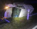 Gegen 3 Uhr am Sonntagmorgen (18.10.2020) ereignete sich ein Unfall auf der Bundesstraße 450 bei Landau.