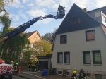 Die Korbacher Wehr verhinderte am 4. Mai das Übergreifen eines Kaminabrandes auf den Dachstuhl.