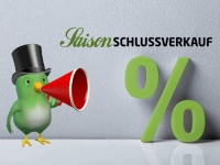 Saisonschlussverkauf beim Schuhhaus Vogel in Korbach.
