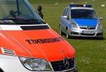 Polizei, Notarzt und eine RTW-Besatzung rückten am Sonntag zu einem Motorradunfall bei Freidrichshausen aus.