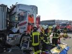Auf der A7 ereignete sich am Mittwoch ein schwerer Verkehrsunfall.