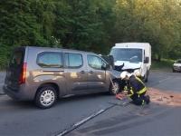 Am 27. Juni kam es in der Ortsdurchfahrt von Löhlbach zu einer Kollision ziwschen einem Opel und einem Mercedes Sprinter.