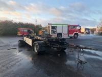 Auf dem SVG-Autohof in Rhoden wurde am Dienstag ein Anhängerbrand gemeldet.