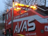 Ein Alleinunfall ereignete sich am Mittwoch auf der Bundesstraße 236.